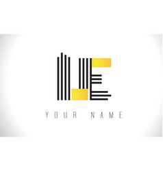 Le black lines letter logo creative line letters vector