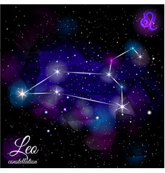 leo constellation with triangular background vector image