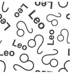 leo zodiac sign seamless pattern background vector image