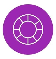 Lifebuoy line icon vector