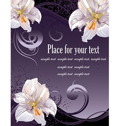 Lily Design with Text Space vector