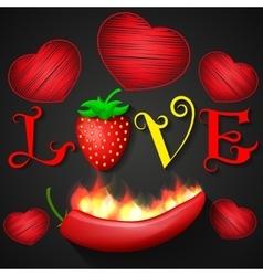 Love design over black background vector