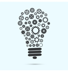 mechanical light bulb vector image