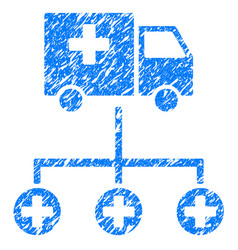 Medical delivery structure grunge icon vector