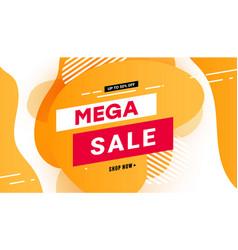 mega sale banner special offer vector image