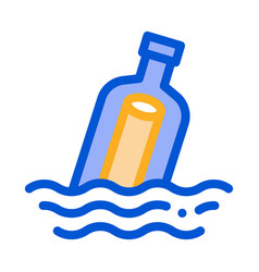 message in bottle icon outline vector image