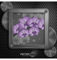 Metallic Frame With Screws vector