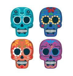 mexican culture set skull mask vector image