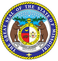 Missouri Seal vector image