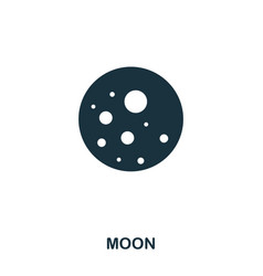 moon icon flat style icon design ui vector image