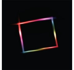 Neon style frame vector