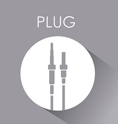 Plug and Usb design vector image