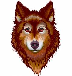 Portrait of wolf vector
