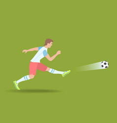 powerful soccer shot vector image