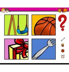 Preschool educational activity vector