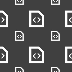 Programming code icon sign Seamless pattern on a vector