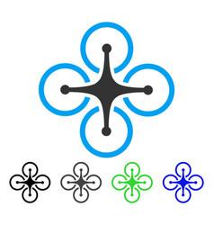 quadrocopter flat icon vector image