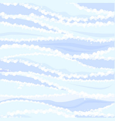 seamless pattern blue waves sea water vector image