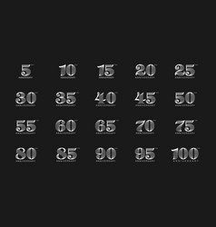 set of anniversary logotype premium anniversary vector image