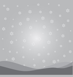 Silver and white snowflake background vector
