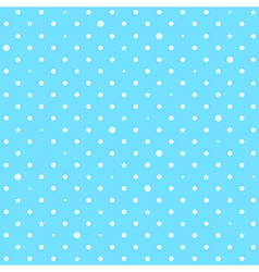 Sky Blue White Star Polka Dots Background vector