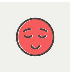 Smiling while sleeping thin line icon vector image