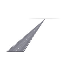 Smooth speedway in diagonal to the horizon vector