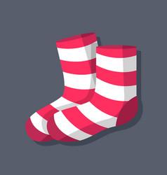 socks symbol object flat icon vector image