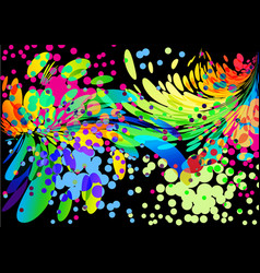 splash abstract colorful cover background on black vector image