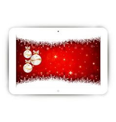 Tablet with Christmas background vector