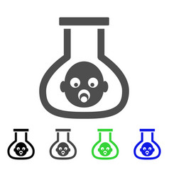 test tube baby flat icon vector image