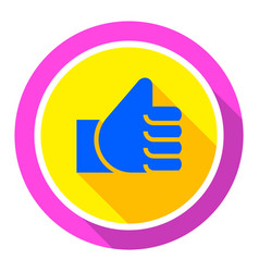 Thumbs up bright color vector