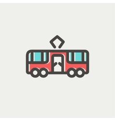 Tourist bus thin line icon vector image