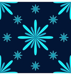Turquoise Flowers Seamless Pattern vector