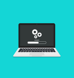Update system update software on laptop vector