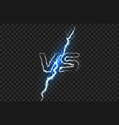 versus vs logo battle headline template vector image