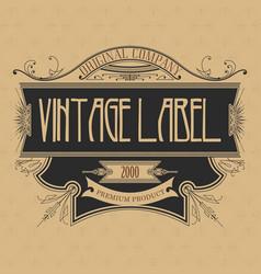 vintage typographic label premium vector image
