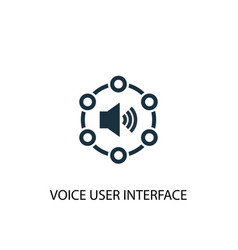 voice user interface icon simple element vector image
