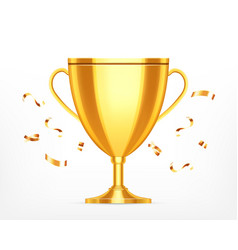 winner cup on a white vector image