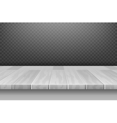 Wood white desk table top surface in perspective vector