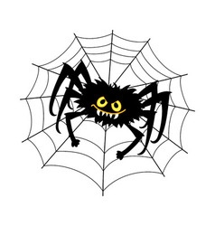 Halloween Spider with Cobweb vector image vector image
