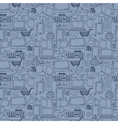 Seamless pattern hand drawn sketch icons for vector image