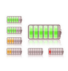 shiny battery icon vector image vector image