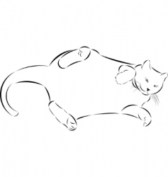 sketch fat lazy cat vector image vector image