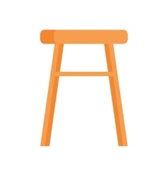 Stool in Flat Design vector image