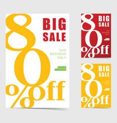 big sale weekend poster set vector image vector image