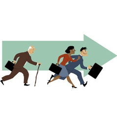 Career for older employees vector image vector image