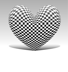 chess heart vector image