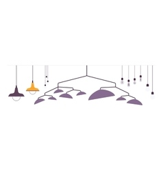 Set of pendant lamps vector image