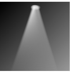 transparent realistic stage light effect vector image
